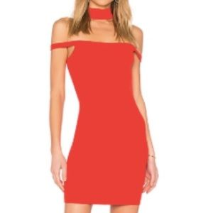 Revolve Sophia Choker Mini Red Dress